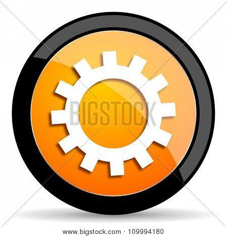 gear orange icon