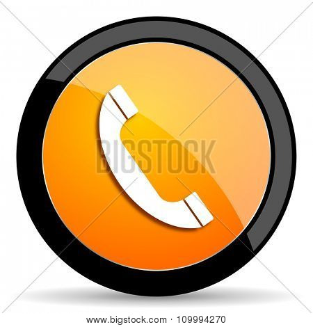 phone orange icon