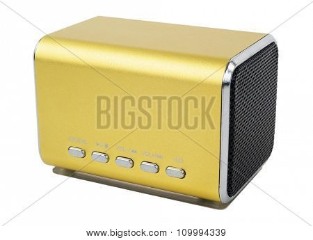 mp3 player isolated on white.Macro