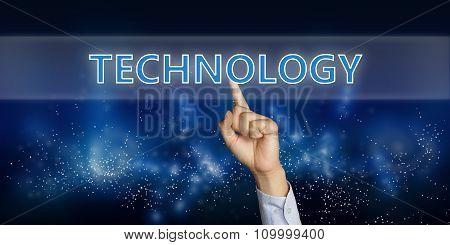 Technology On Virtual Screen Concept