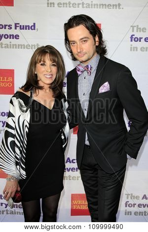 LOS ANGELES - JUN 8:  Kate Linder, Constantine Maroulis at the 2014 Tony Award Viewing Party at the Taglyan Cultural Complex  on June 8, 2014 in Los Angeles, CA