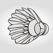 Постер, плакат: Badminton shuttlecock or badminton ball Vector clip art