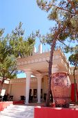 Knossos Palace As Tourist Attraction At Recreation Area Of Luxury Hotel, Crete, Greece poster