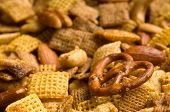 Pretzel Snack Mix Background