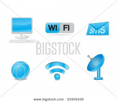 communication icons vector illustration