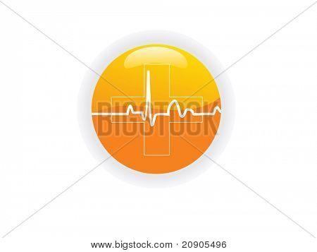 Ilustración de vector corazón pulso icono