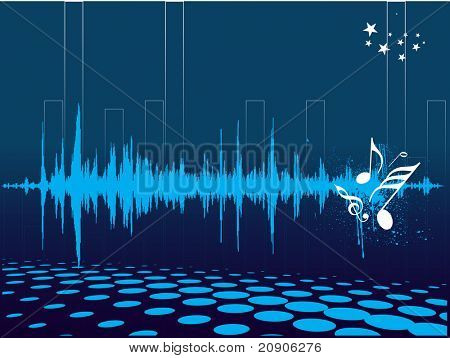 vector illustration abstract musical background