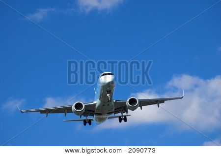 Airliner On Short Final To Airport