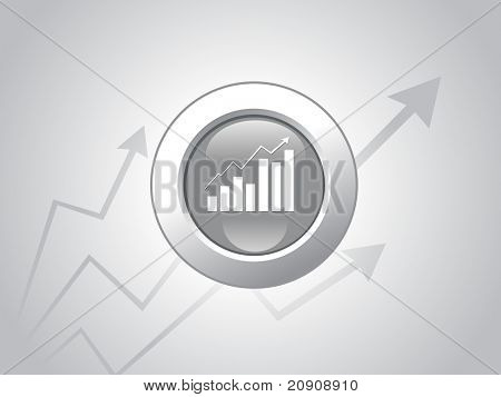 business graph on black background, wallpaper