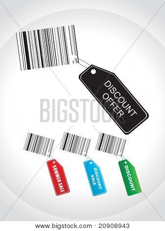 tags for summer discount sale with bar codes