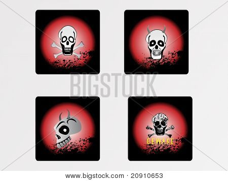 halloween icons set, vector wallpaper