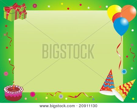 abstract birthday frame, illustration