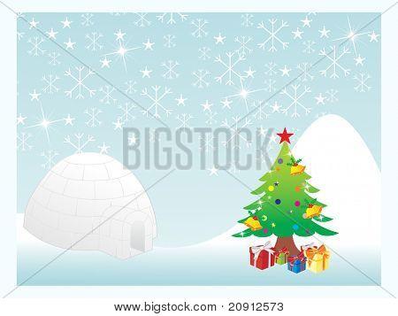 christmas snowflake background series, illustration