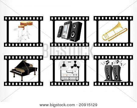 abstract design musical instrument , vector illustration
