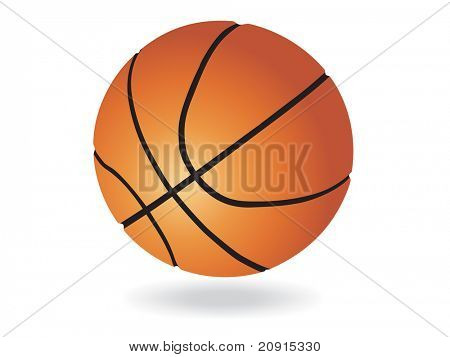 vector basketball ball, wallpaper