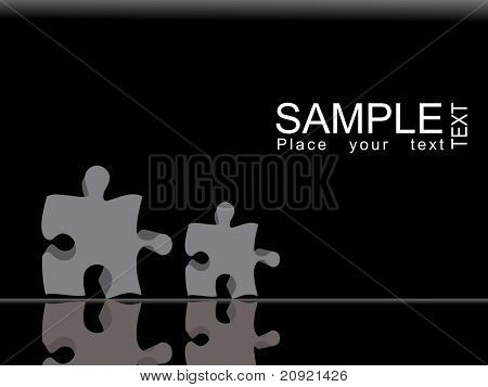 abstract vector illustration puzzle backdrop