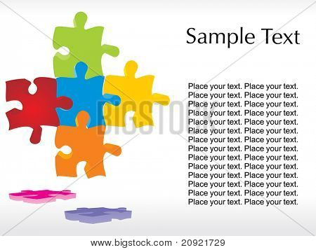 abstract join puzzle background with text