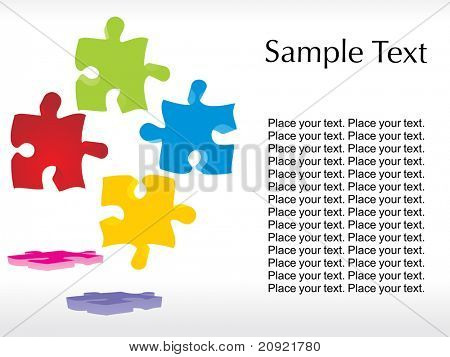 abstract colorful puzzle illustration with white background
