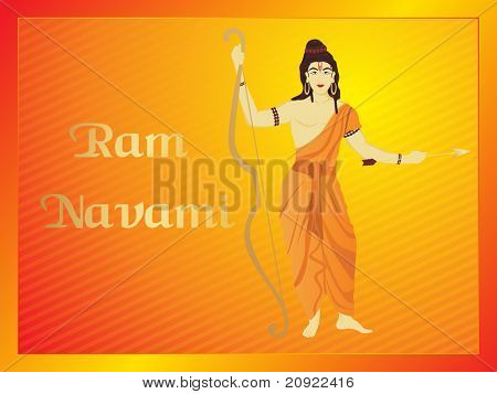 abstract penal line background for ram navami