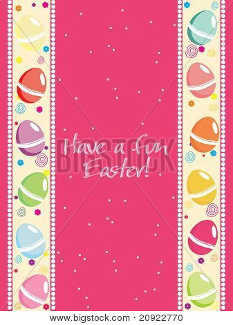 vector simple dotted easter egg pattern card