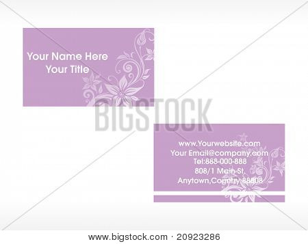 creative floral series, business card set