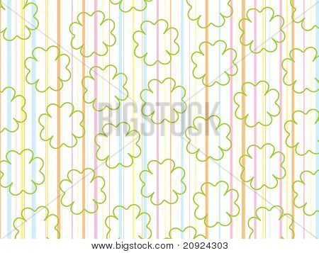 colorful panel line background with clover shape