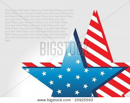 blue, red stars with grey sample text background