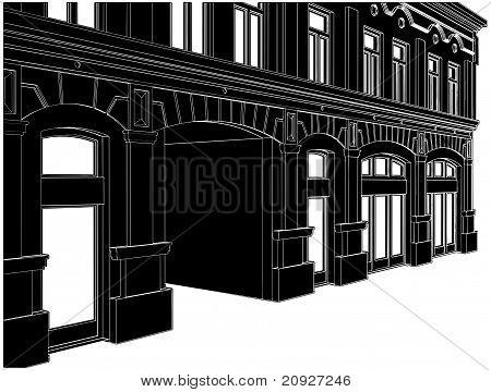 Edificio ecléctico Casa Vector