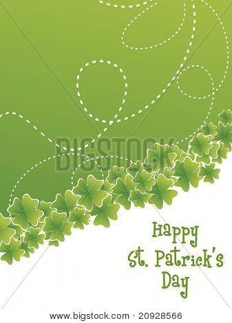 shamrock with swirl pattern st. patrick's card