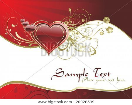 valentine day cards with decorated heart pattern