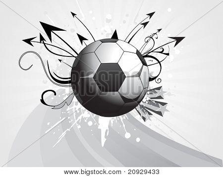 abstrato cinzento com listras, futebol sujo, seta e arte