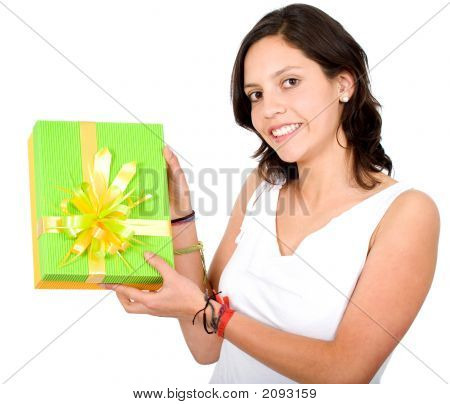 Casual Girl With A Gift