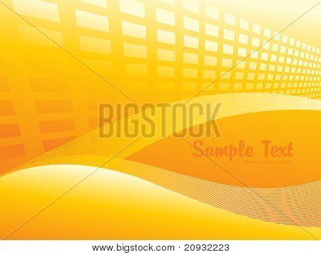 fundo abstrato amarelo com ondas