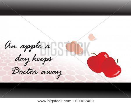 frischen roten Apfel mit medizinischen Tapete