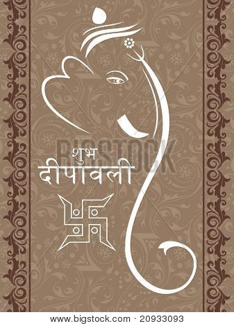 creative artwork background with ganpati