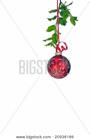 hanging red ornament