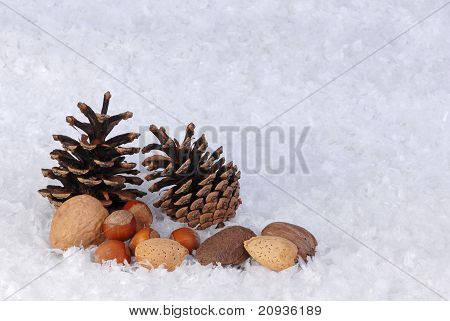 Christmas theme pinecones