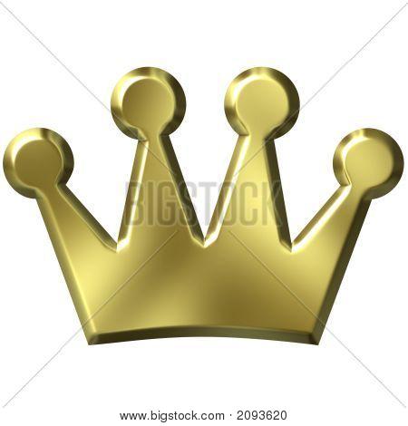 Corona de oro 3D