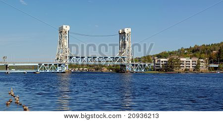drawbridge in down position