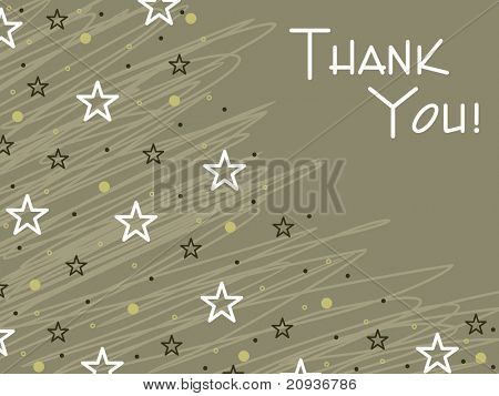 olive green artistic lines background with many star