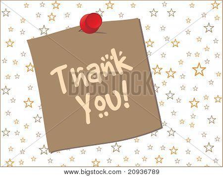 antecedentes de estrellas con la nota de agradecimiento