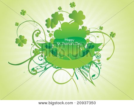 st. patrick's day swirl design with rays background