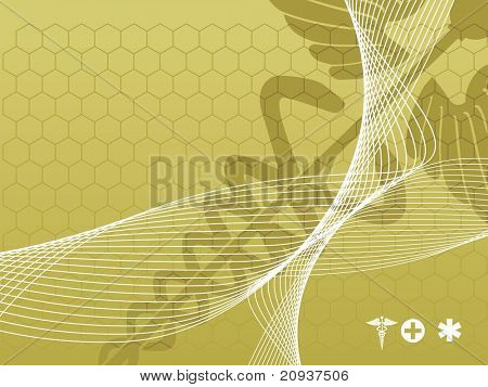 wave with medical background, vector illustration