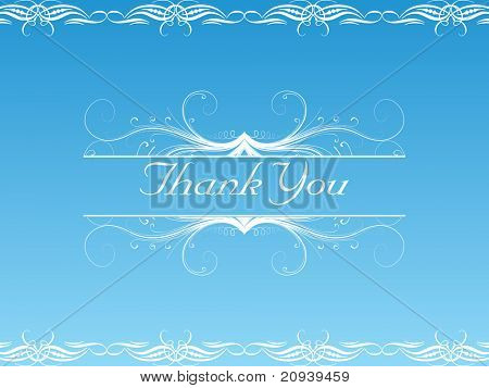 abstract floral pattern background for thank you