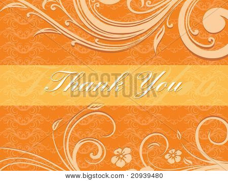 abstract orange floral pattern background for thank you day