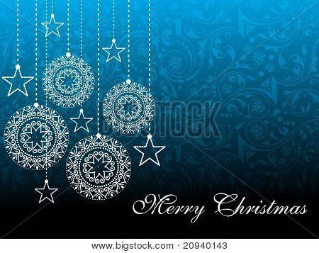 seamless creative artwork background with hanging xmas icons