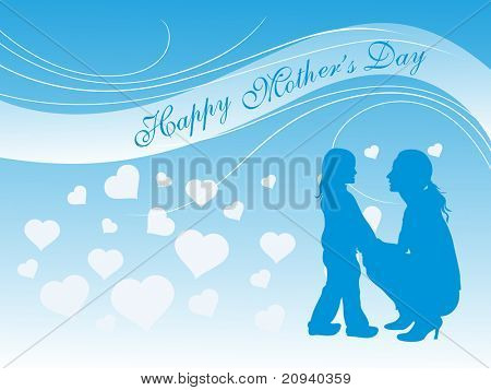 happy mother day background, vector illustration