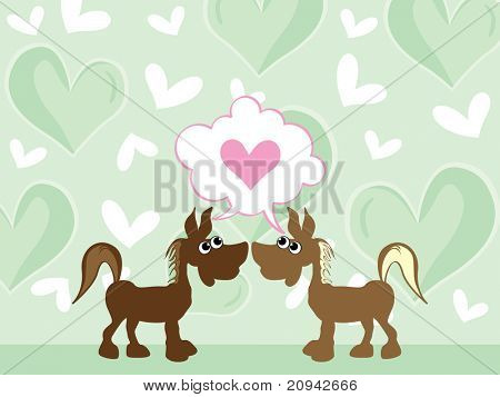 abstract green heart background with romantic ass couple
