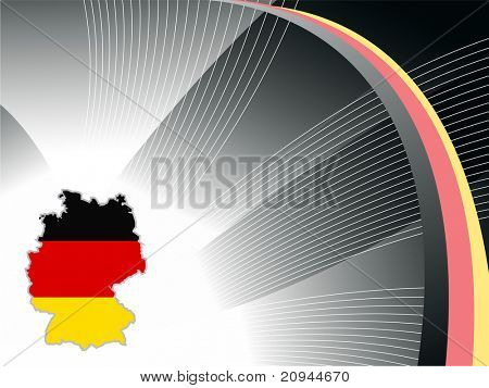 abstract black wavy background with german map