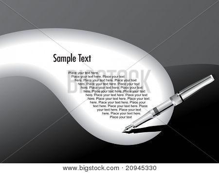 an elegant writing silver fountain pen